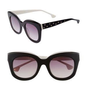 Rare Alice + Olivia Downing Sunglasses Black White